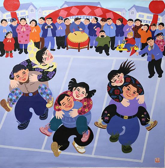 """生态水城""""全国农民画展,""""中国精神,中国梦""""江西万安全国农民画展,"""""""